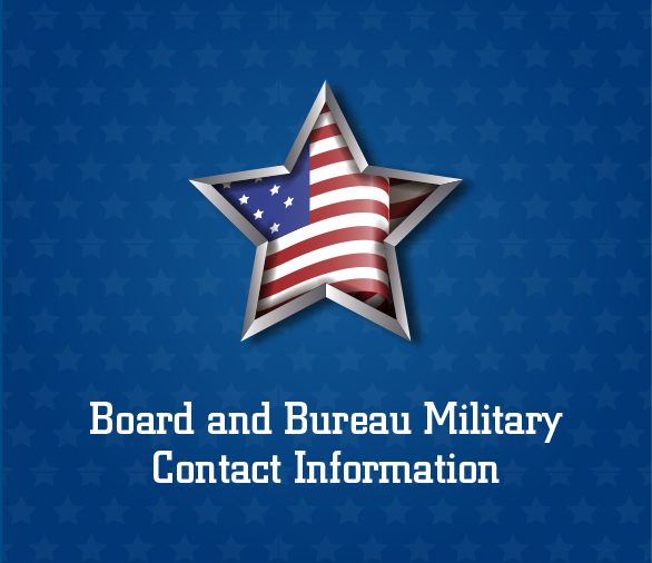 Board and Bureau Military Contact Information